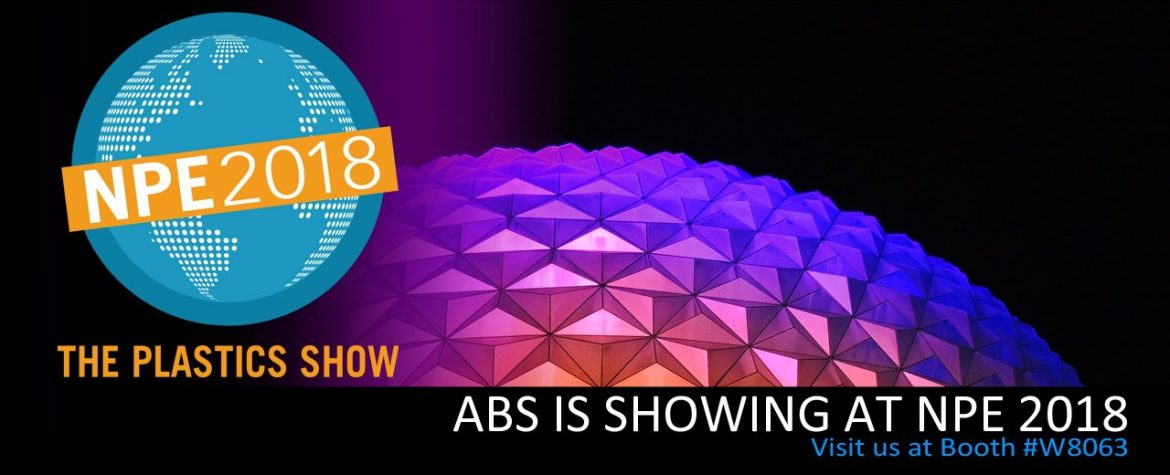 ABS IS SHOWING AT NPE 2018